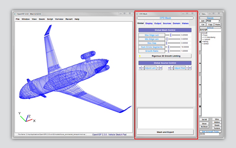 OpenVSP and Pointwise Work Together to Simplify CFD on New Vehicle