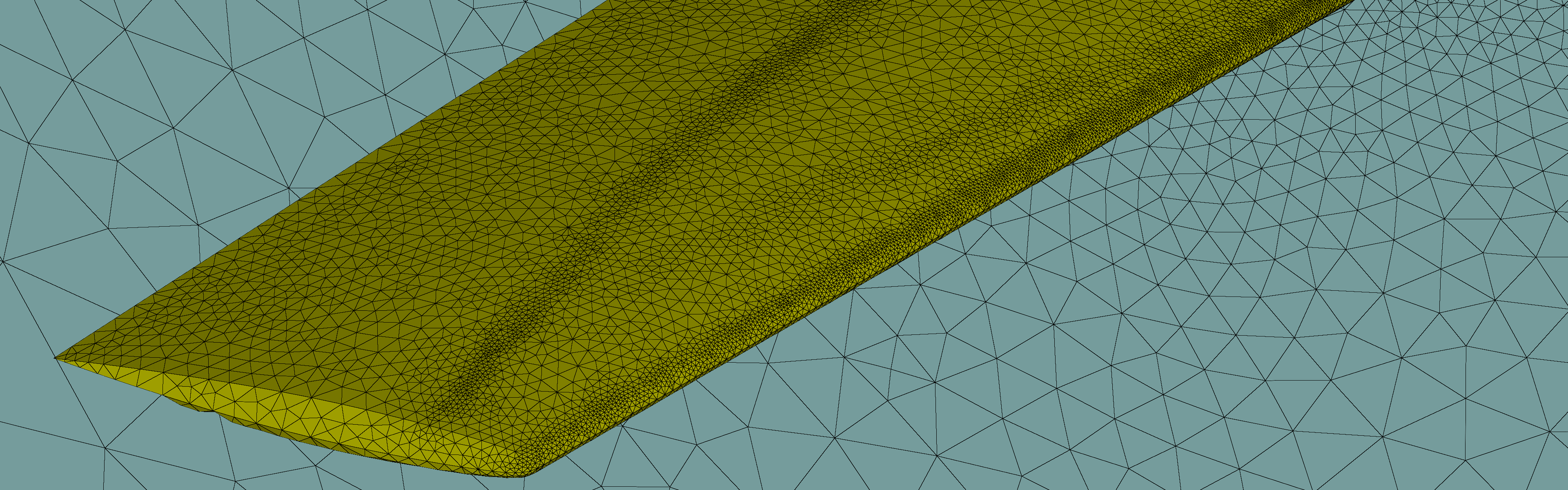 Automatically generated mesh after three user-independent iterations of mesh adaptation.