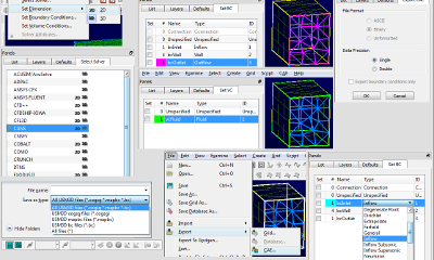 Plugins integrate with the Pointwise user interface to export CAE files.