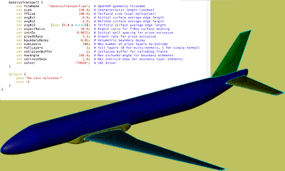 Using OpenVSP and Glyph Scripting in Pointwise enables engineers to more readily run high fidelity experimental design and parametric trade studies during conceptual design.