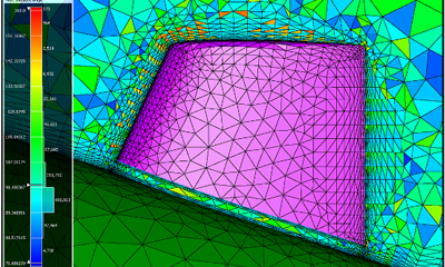 Modified T-Rex parameters resulted in an improvement in the tetrahedral gap mesh