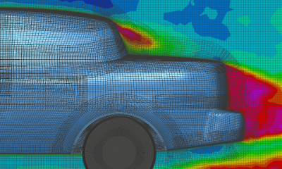 Automobile overset mesh solution using Pointwise, Suggar++ and Caelus.